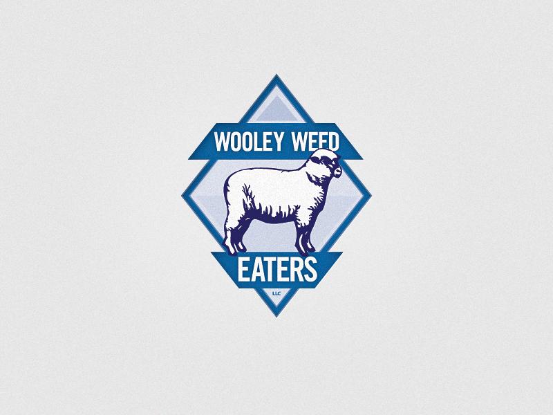 Wooley Weed Eaters logo identity sheep