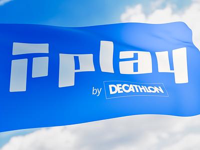 Play by Decathlon - logo design logo design branding 3d visualization decathlon logo