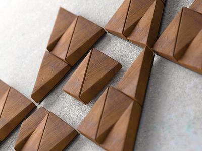 Plevnya logo 3D branding 3d visualization concrete wood blender 3d preview logo