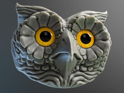 Owl - 3D sculpting
