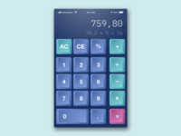 Calculator - Skeuomorphism design #DailyUi 04