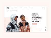 The North Face - Website Concept #DailyUi 03