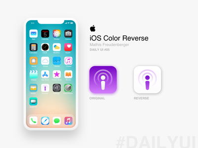 iOS Reverse #Daily Ui 05 - iPhone App icon concept home page flat reverse application app ios iphone design trends vector typography illustration dribbble daily 100 website web ui ux design dailyui