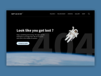 Space X - 404 Error page - Daily Ui