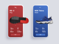 Single Product page - Daily ui - Sneakers app