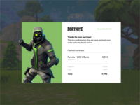 Email Receipt - Daily Ui - Fortnite Concept