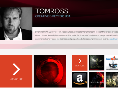 Full Profile for Fusings.com social web design interface design ui design fusings redesign