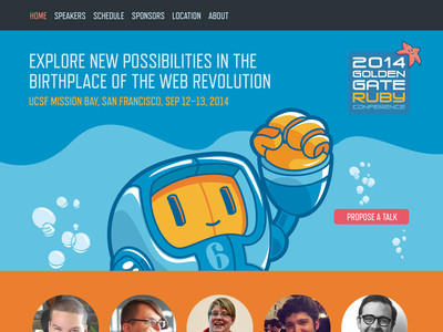 Ruby Conference Website (Home) web design website ui design illustration ruby gogaruco john neiner
