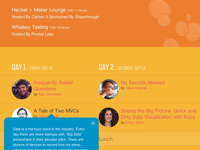 Golden Gate Ruby Conference 2014 (Schedule) web design website ui design illustration ruby gogaruco
