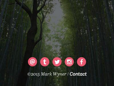 Contact/Social Footer