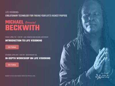 Michael Beckwith Tickets Landing Page