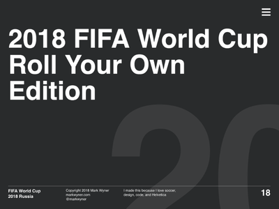 World Cup Home View world cup website ui typography soccer futbol design
