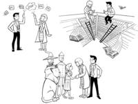 PSD Wizard Hand-Drawn Illustrations