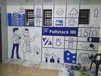 Fullstack HQ Office Mural (WIP)