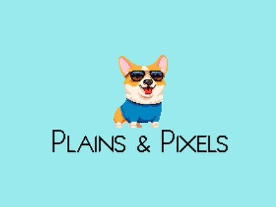 Plains & Pixels - Logo pixel art pixelart pixel designer design illustrator illustration logo design logodesign logo