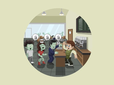 Plains & Pixels - Cafe Z illustration
