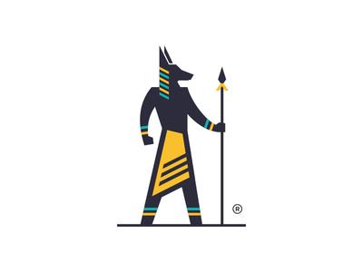 Anubis mythology culture egypt modern sophisticated geometric mystic god dog anubis logos simple branding animal design illustration icon logodesign logodesigns logo