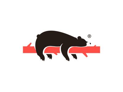 Lazy or Sleep Bear Logo Design bear logo dreaming quarantine wood lazy sleepy sleep grizzly polar bear bear cute animal character illustration icon logos simple logodesign logodesigns logo