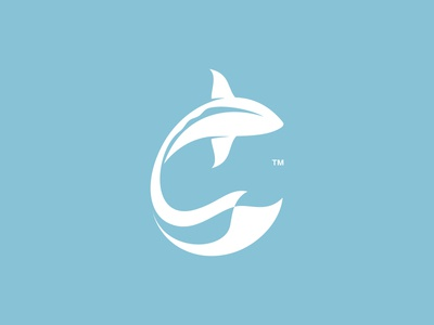 Fish Negative Space fish logo fin ocean river marine fish negative space branding character animal design illustration logos icon simple logo design logo