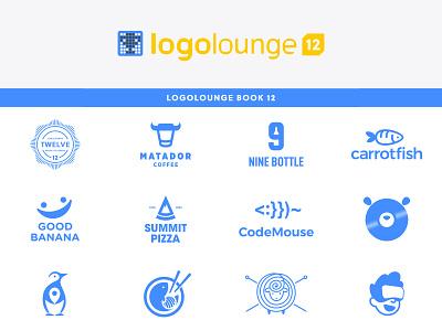 LogoLounge Book 12 winners book 12 logolounge logo book animal character dual meaning app logos logodesigns icon simple logo