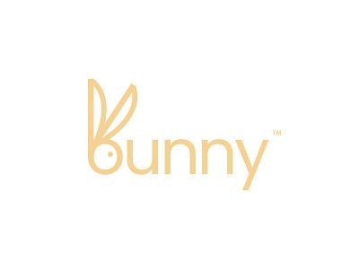 bunny adorable pet cute rabbit bunny typeface lettermark wordmark logotype logo design logos branding icon simple logo