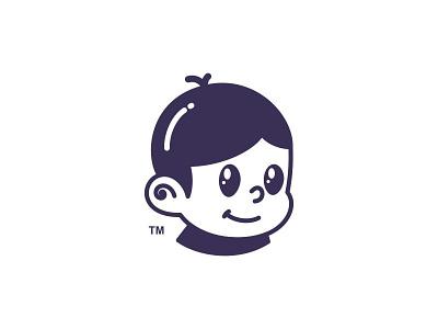 Alba Kids Wear smile mascot little boy boy illustration kids boy logo design branding cute character illustration app logos icon simple logo
