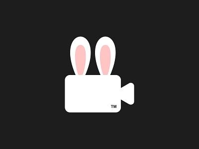 Bunny Production production film movie ear rabbit bunny cute animal illustration dual meaning app design logos icon simple logo