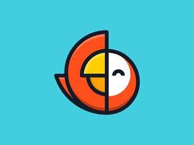 Parrot colorful flying fly wings animal bird parrot logo ideas logo inspirations logo design ui branding design illustration logos icon simple logo