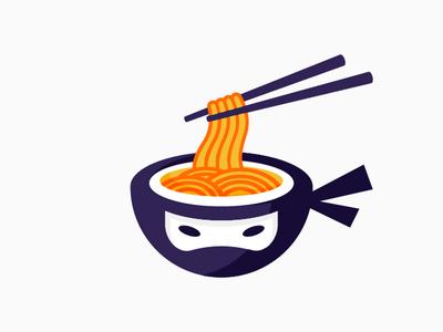 Ninja Ramen Logo Design Version #01