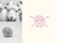 SHEEP KNITTING LOGO DESIGN