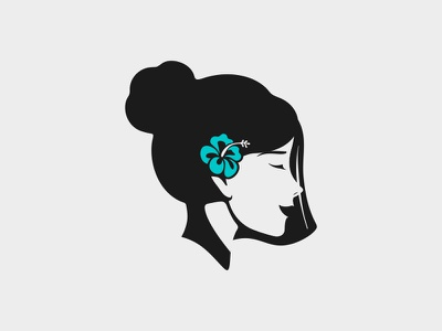 GIRL spa cosmetic beauty app smile asian american woman girls flower beauty logo beautiful beauty design character icon logos simple logodesign logodesigns logo