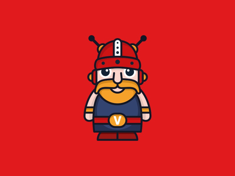 VikingBot robot logo design chatbots antenna signal robotic vikings chatbot robot viking simple illustration vector cute character icon logos logodesign logodesigns logo