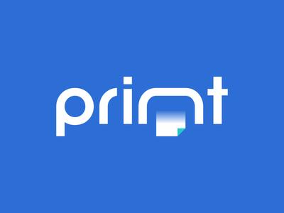 Print printing lettering letter logo wordmark logotype document cmyk paper print dual meaning typography vector illustration logos simple icon logodesign logodesigns logo