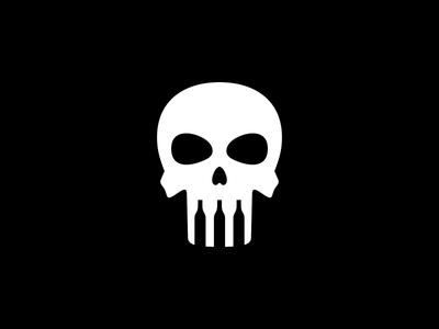 HelloWine #02 drink bar helloween dead head skull bottle wine bone dark negative space dual meaning character app logos simple icon logodesign logodesigns logo