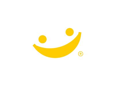 Good Banana kids joy fun yellow bananas fruit happiness happy smile banana dual meaning cute app design logos simple icon logodesign logodesigns logo