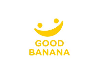 The Complete Logo Good Banana adorable play fruit yellow banana happy child kids fun smile branding cute dual meaning app logos simple icon logodesign logodesigns logo