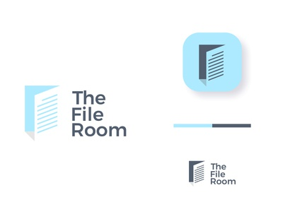 The File Room storage folder archive business dual meaning door room document paper file ux branding ui app logos simple icon logodesign logodesigns logo
