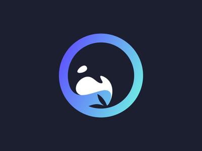 ORCA circle logomark mark fish sea ocean fin whale orca branding animal character app illustration logos simple icon logodesign logodesigns logo