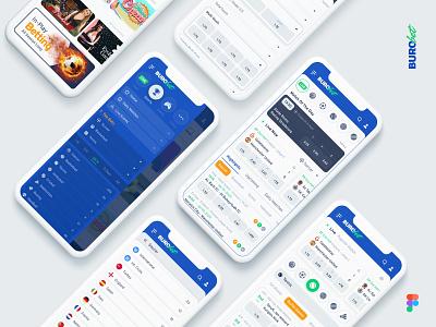 BuroBet | Sportsbook Platform mobile app userexperience userinterface sportsbook betting bet mobile mobile ui ux ui