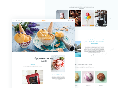 Leali Coffee - Ice Cream Web Design. coffee icecream user inteface user experience interface experience design website clean ux ui
