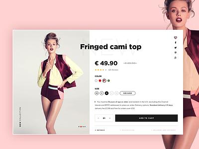 Fashion e-commerce detail page. website web ux ui shop page ecommerce fashion clean