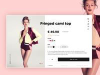 Fashion e-commerce detail page.