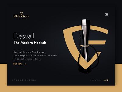 Desvall Stockholm Concept Design hookah desvall minimal concept clean site design web shisha ux ui