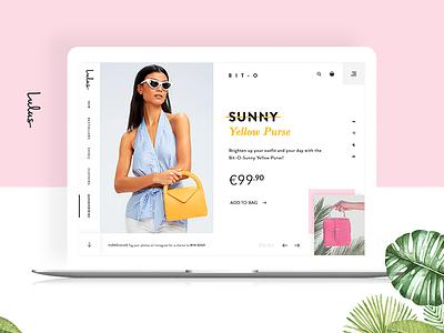 Online Shop Detail landingpage card ecommerce minimal clean design website ux ui
