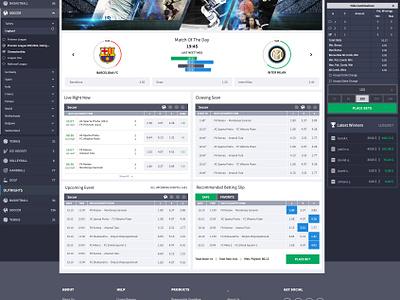Bet Design   Sports Page sportsbook bet betting games iddaa bahis ui ux website template