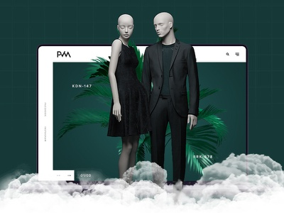 Mannequin web design | New ui flat director art site web minimal free designer design website clean ux ui