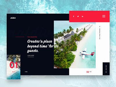 Maldives Slider Design design slider modern maldives free minimal website clean ux ui