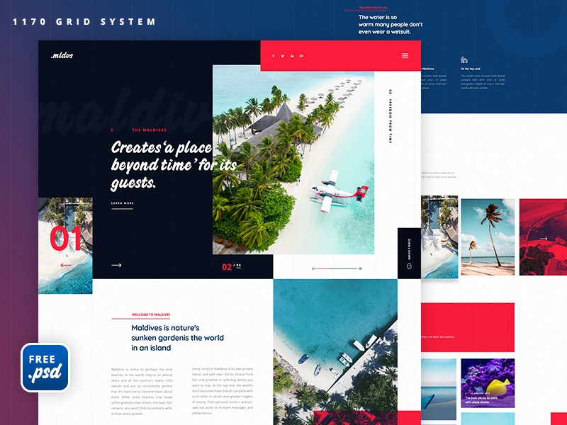 Travel Home Page   Free psd travel responsive page minimal landing page interface homepage experience flat design clean business web web design website user experience ux ui freepsd freebie