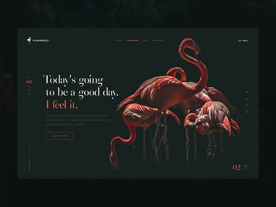 Flamingo UI flamingo responsive page minimal landing page interface homepage experience flat design clean business web web design website user experience ux ui
