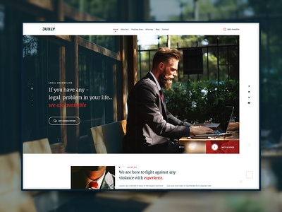 Juxly Law Firm Themeforest Template. law theme themeforest ux ui legal attorneys minimal clean website lawfirm